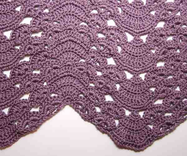 Free Crochet Pattern: Fans and Pansies Ripple