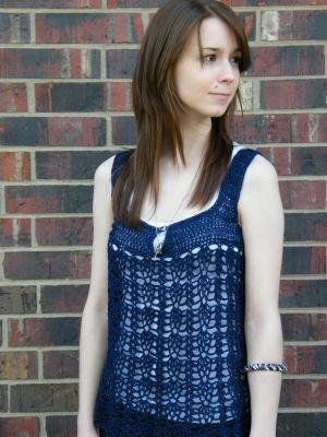 Clarice Sleeveless Top Down Summer Free Crochet Pattern Crochetkim