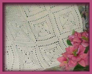 CrochetKim.com Angel Afghan Free Crochet Pattern and Video