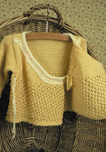 CrochetKim Free Knit Pattern | Kalari Baby Jacket