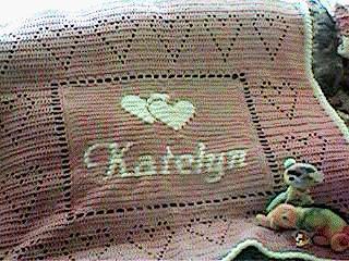 CrochetKim Free Crochet Pattern | Personalized Baby Afghan @crochetkim