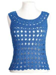 CrochetKim Free Crochet Pattern: Marilyn Sleeveless Lace Top