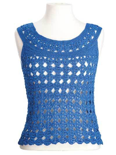 Marilyn Sleeveless Top Free Crochet Pattern