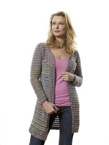 CrochetKim Free Crochet Pattern | Ribbon Trim Jacket