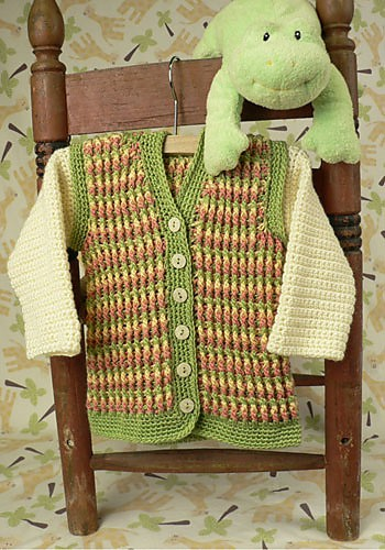 CrochetKim Free Crochet Pattern | Turning Stone Baby Hoodie