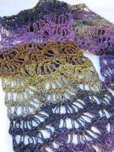 CrochetKim Free Crochet Pattern | Waves Scarf | Broomstick Lace Drop Stitch Crochet Hybrid @crochetkim