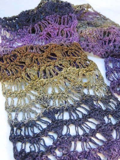 Waves Scarf Free Crochet Pattern Crochetkim