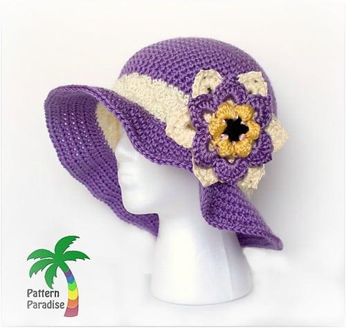 Free Crochet Pattern: Summer Joy Sun Hat
