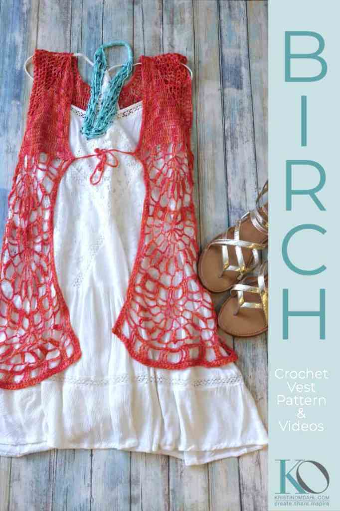Free Crochet Pattern: Birch Vest