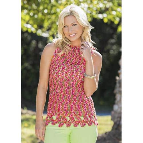 Free Crochet Pattern: Ginko Leaf Tank Top