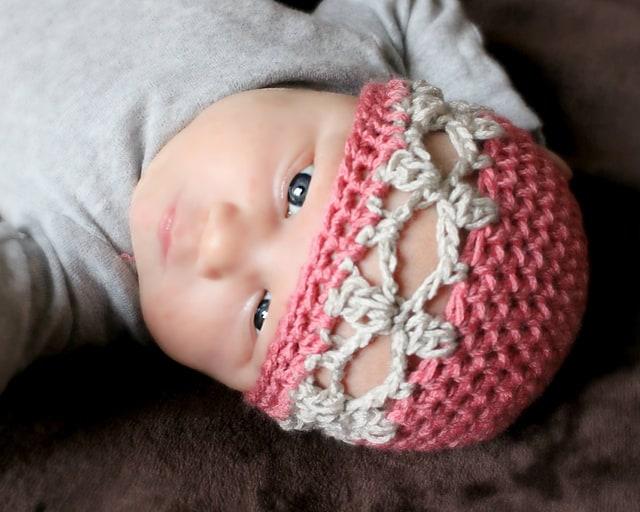 Free Crochet Pattern: Snowflake Beanie