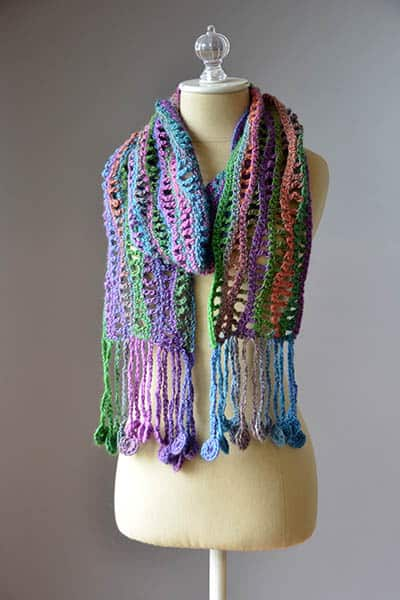 Free Crochet Pattern: Coin Scarf