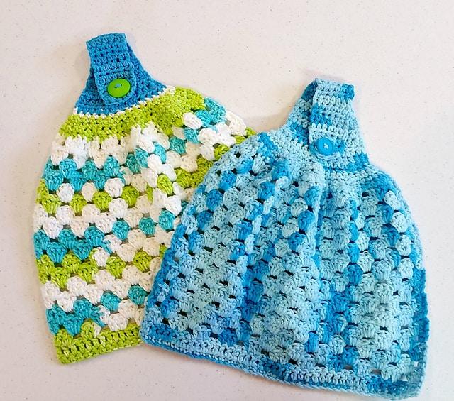 Free Crochet Pattern: Hanging Towels