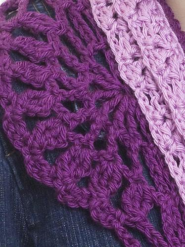 Layered Scarf | CrochetKim Free Crochet Pattern