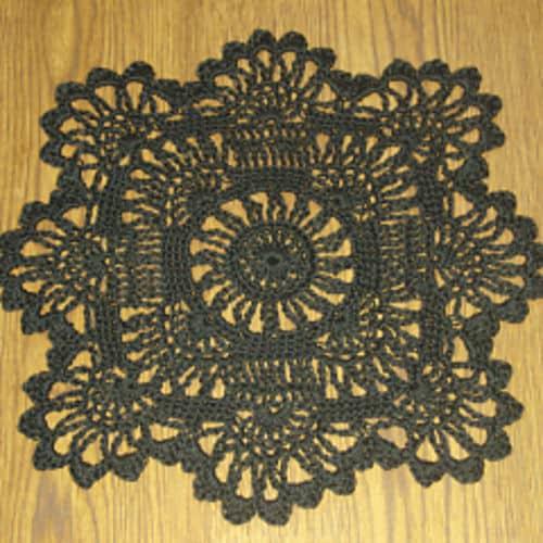 Sun Flower Doily Free Crochet Pattern