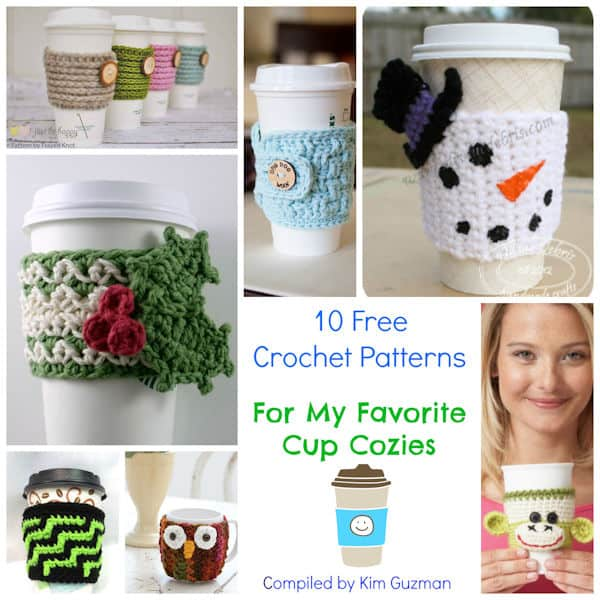 Link Blast: 10 Free Crochet Patterns for Cup Cozies