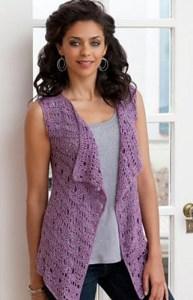 Free Crochet Pattern: Drapey Crochet Vest
