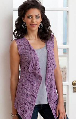 Drapey Crochet Vest Free Crochet Pattern Crochetkim