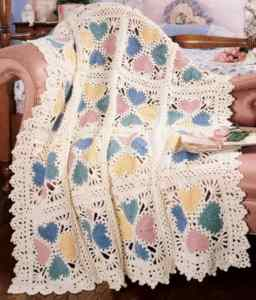 Free Crochet Pattern: Lacy Valentine Afghan