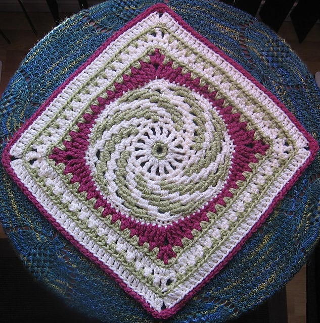 Free Crochet Pattern: Spiraling Into Spring Square