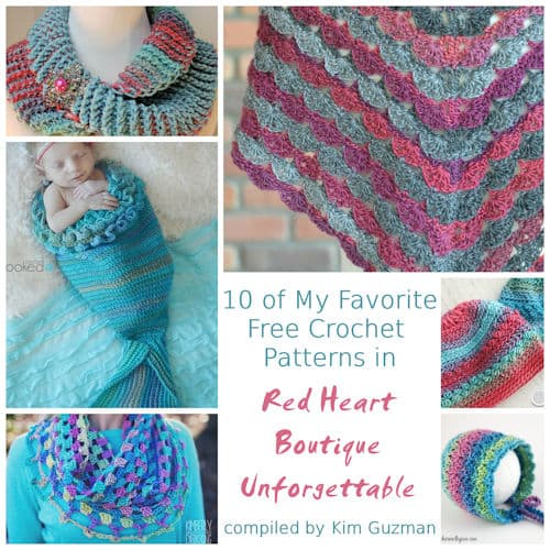 Link Blast: Free Crochet Patterns in Red Heart Unforgettable