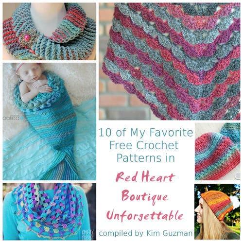 Link Blast: Free Crochet Patterns in Red Heart Unforgettable