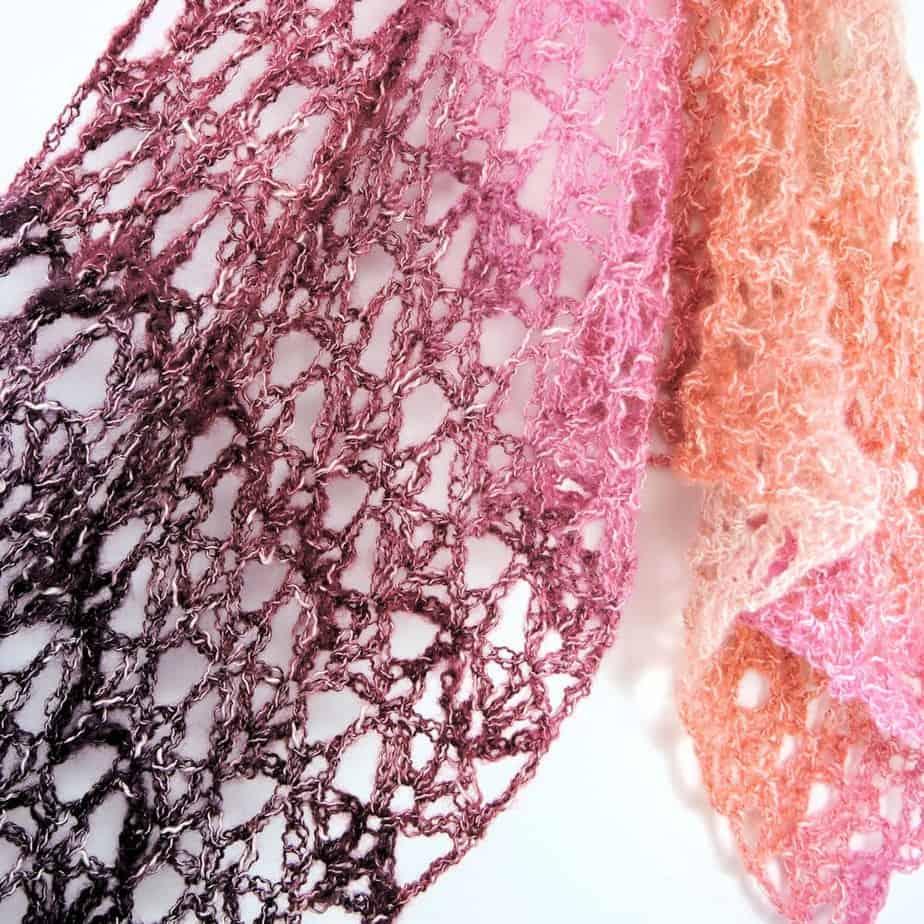 Berry Bubblegum Fling Wrap Shawl CrochetKim Free Crochet Pattern