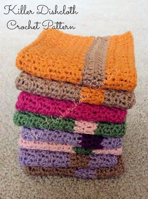 Killer Dishcloth Free Crochet Pattern Crochetkim