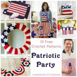 Link Blast: 10 Free Crochet Patterns for a Patriotic Party