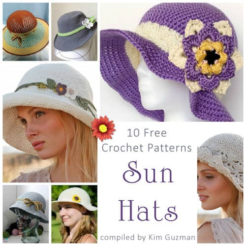 Link Blast: 10 Free Crochet Patterns for Sun Hats