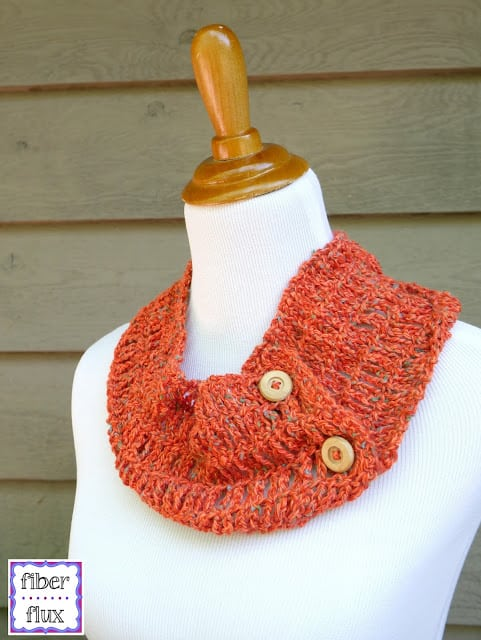 Free Crochet Pattern: Tiger Lily Summer Cowl