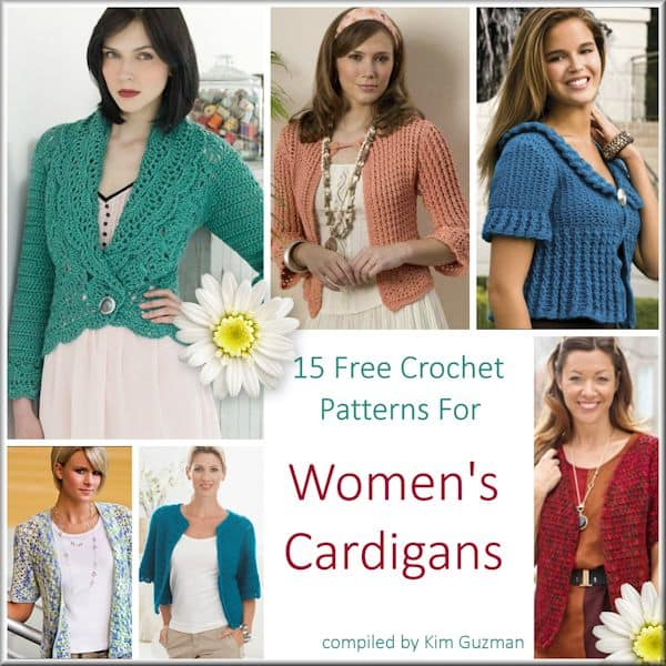 Link Blast: Free Crochet Patterns for Womens Cardigans