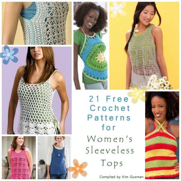Link Blast 21 Free Crochet Patterns For Womens Sleeveless Tops