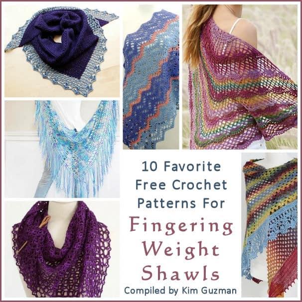 Link Blast 10 Free Crochet Patterns For Fingering Weight Shawls