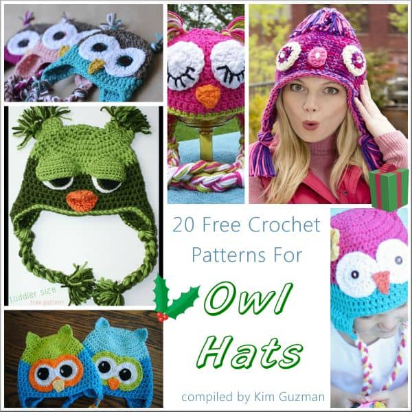 Link Blast: 20 Free Crochet Patterns for Owl Hats