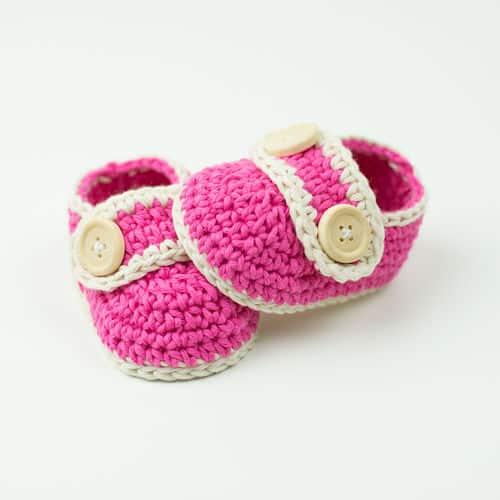 Free Crochet Pattern: Pretty In Pink Baby Booties