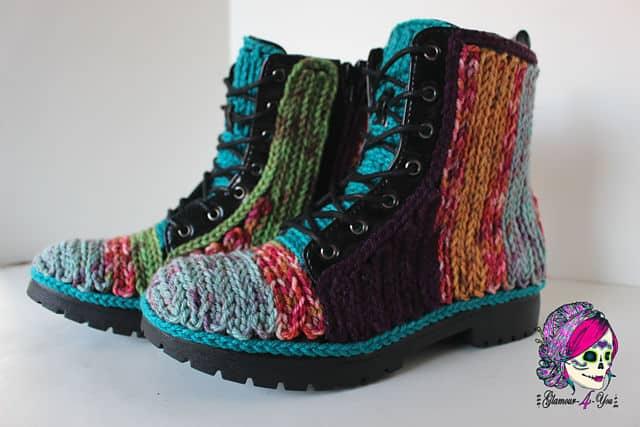 Free Crochet Pattern: Faux Crochet Outdoor Boots