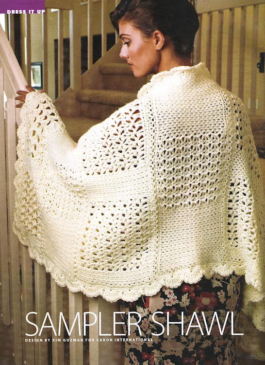 Sampler Shawl | CrochetKim Free Crochet Pattern