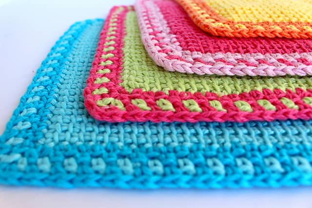 Free Crochet Pattern: My Poppet Washcloths