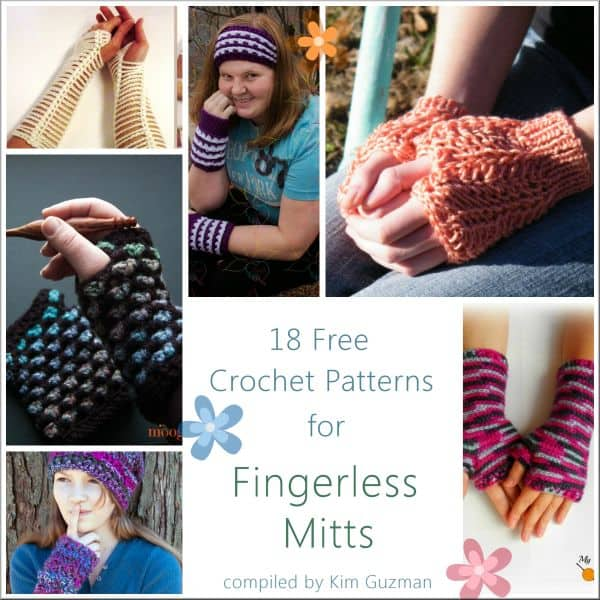 Link Blast 18 Free Crochet Patterns For Fingerless Mitts Crochetkim