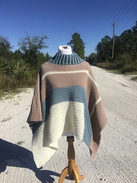 Be So Brave Poncho Free Crochet Pattern Crochetkim