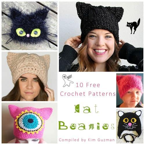 Link Blast: 10 Free Crochet Patterns for Cat Beanies