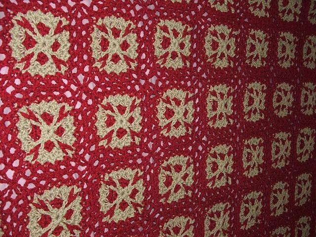 Flower Throw | CrochetKim Free Crochet Pattern