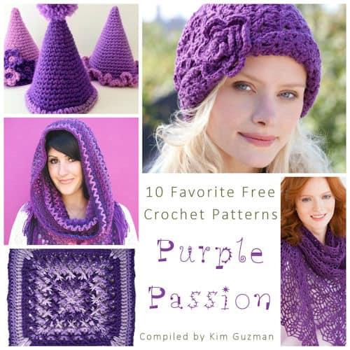 Link Blast: 10 Free Crochet Patterns Featuring All Purple