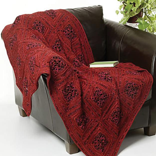 CrochetKim Free Crochet Pattern: Sunset Evening Throw @crochetkim