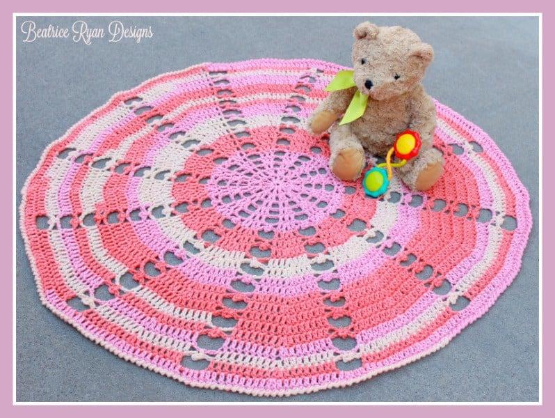 Sugar Wheel Baby Blanket Free Crochet Pattern Crochetkim