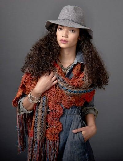 Free Crochet Pattern: Globetrotter Shawl