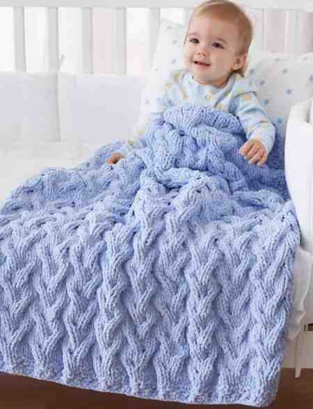 Free Knit Pattern: Shadow Cable Baby Blanket