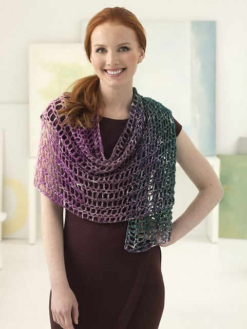 Free Crochet Pattern: Sparkle Shawl from Lion Brand