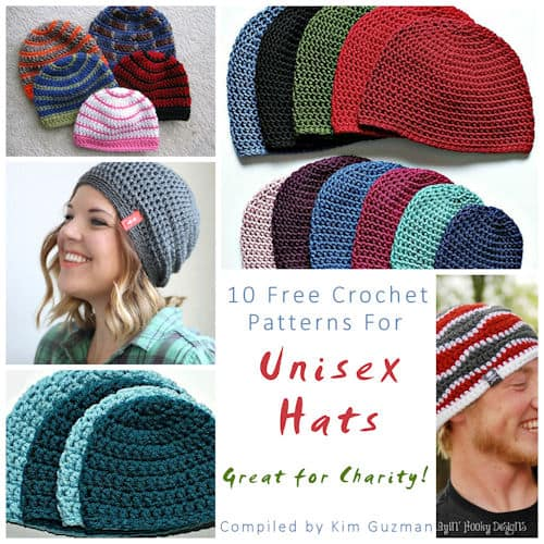 Link Blast: 10 Free Crochet Patterns for Unisex Hats